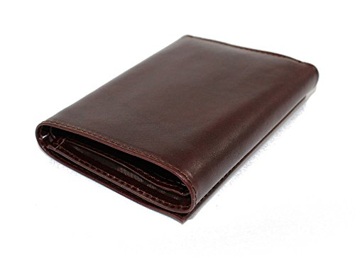Pockets Zenyetti Horizontal Lined Handcrafted amp; RFID Brown Larger Wallet Leather TriFold 1qYOw1r