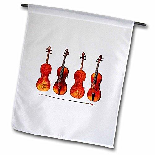 3dRose fl_62210_1 The Great Stradivarius Violins Garden Flag, 12 by 18-Inch