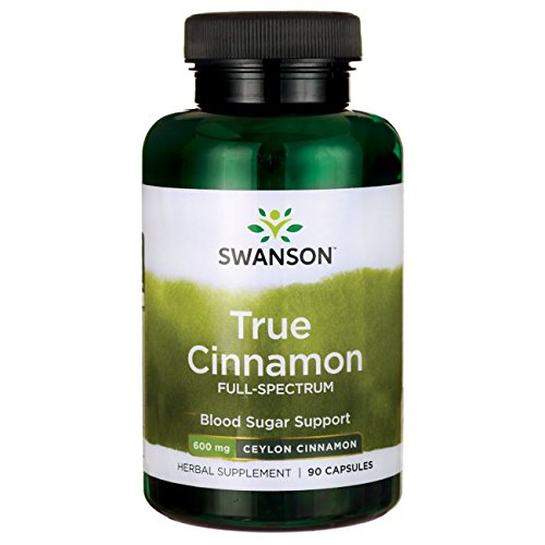 Swanson Ceylon Cinnamon Cardiovascular Health, Blood Sugar and Metabolic Support, Cinnamomum verum Herbal Supplement 600 mg 90 Capsules