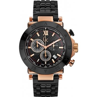 Guess GC X90006G2S Structure Black & Rose Gold Timepiece Smart Luxury TM