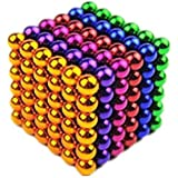 216pcs 5mm Six color Magic square ball Magnetic bead Buck ball Square magnetic block Magnetic ball