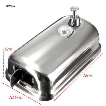 Generic Wall-Mounted Soap Dispenser Stainless Steel Liquid Soap Box 800Ml