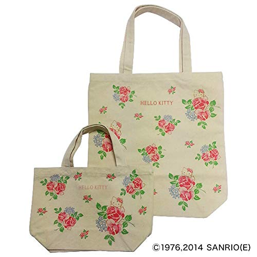 Sanri0 Hello Kitty x Kyoto Takashimaya Original Hello Kitty Tote Bag & Lunch Bag Set Rose