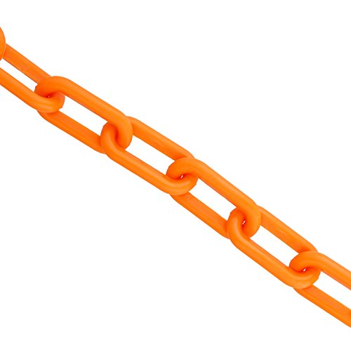 Bob's | Plastic Chain Links in Orange – 125' Feet Long – Orange Chain for Crowd Control, Halloween Chains, Prop Chains by Bob's Industrial Supply