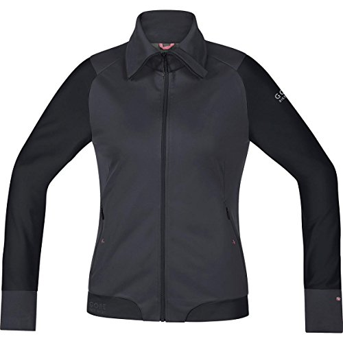 Gore Bike WEAR Women's Warm Soft Shell Mountainbike Jacket, Stretch, Gore Windstopper, Power-Trail Lady WS SO Jacket, Size 40, Raven Brown/Black, JWSFLO