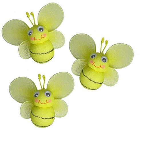- The Butterfly Grove Bailey Bumblebee Decoration 3D Hanging Mesh Nylon Decor for Baby, Yellow Daffodil, Mini/3