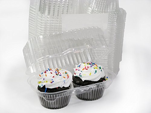 Katgely Cupcake Boxes Cupcake Containers for 2 Pack Cupcake, Set of 50