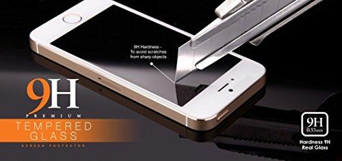 Samsung Galaxy A5 Modell 2016 / A510F - bayo Premium Gorilla Glas Display Schutzfolie aus gehärtetem Panzerglas - Hartglas - Tempered Glass - Top Schutzglas gegen Kratzer mit Härtegrad 9H (0,33 mm gerundete Kanten) Schutzfolie Displayschutzglas