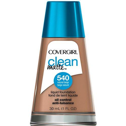 (CoverGirl Clean Oil Control Liquid Makeup, Natural Beige [540] 1 oz (Pack of 2))