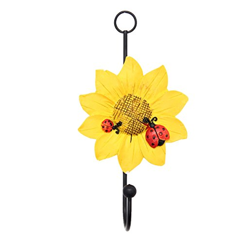 Mochiglory Home Decoration Cute Ladybug and Daisy Flower Resin Wall Hook Utility Wardrobe Hook Ladybug Hooks