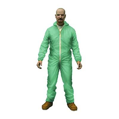 "Mezco Toys Breaking Bad: Green Haz-Mat Suit Walter 6"" Figure, White: Toys & Games"