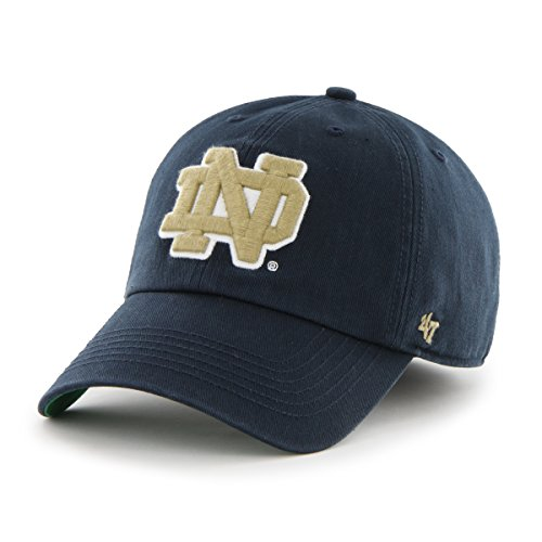 ('47 NCAA Notre Dame Fighting Irish Franchise Fitted Hat, Navy Alternate, Small)