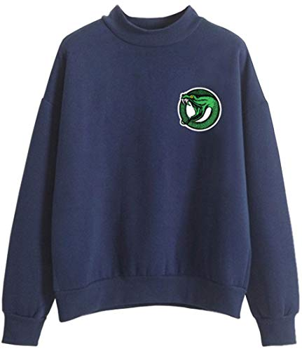 Lunga Uomo Sportivo Emilyle Navy Accollato Southside Sweatshirt Manica O Snake Riverdale Serpents Felpa Blu Stampa 4wTwvq
