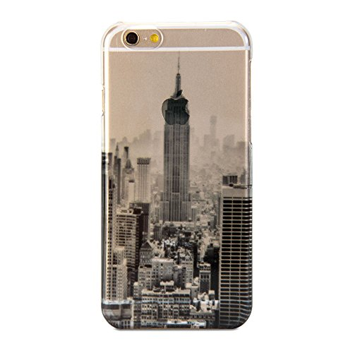 GMYLE Cover Case Print Crystal Für iPhone 6 (4.7 inch Display) - Transparent New York Scenery Schlank Hülle Tasche