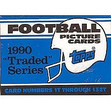 1990 Topps Football Traded Factory Set with Emmitt Smith's Rookie - Rookie Smith Card