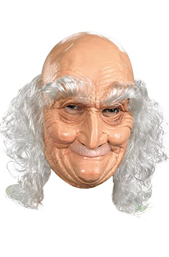 Old Man Costume Mask (Adult Old Man Full Vinyl Mask Costume)