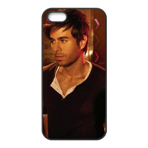 Enrique Iglesias 002 coque iPhone 4 4S cellulaire cas coque de téléphone cas téléphone cellulaire noir couvercle EEEXLKNBC24931
