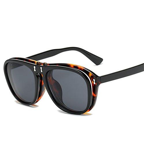142 mujeres 54 y y de sol mm para flip americanos hombres europeos gafas NIFG creativas 142 punk de C Gafas sol double O7nwHTq