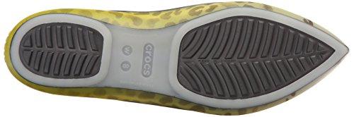 Crocs Río leopardo de fundido W plana Burst/Graphite
