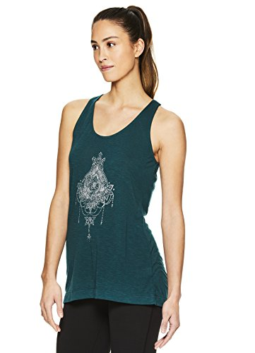 2f253ee5e0 Jual Gaiam Women s Graphic Active Crewneck Tank Top - Yoga Shirt for ...