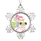 Larmai Baby Shower Twins Photo Christmas Baby Christmas Tree Hanging Snowflake Ornaments Xmas Tree Holiday Present 2018