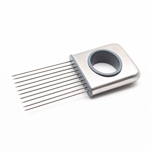 The Onion Chopper Stainless Steel Best Onion Holder for Slicing All-In-One Potato Holder Vegetable Slicer