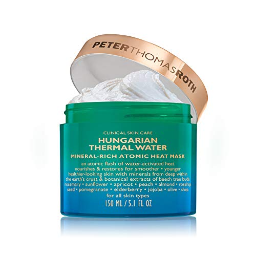 Hungarian Thermal Water Mineral-Rich Atomic Heat Mask, Hydrating Facial Mask with Botanicals for Fine Lines, Wrinkles, Dullness, Uneven Skin Tone and Texture