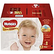 Huggies Little Snugglers Baby Diapers, Size 3, 162 Count...
