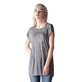 Diesel T-JAC-B Maglietta Women's T-Shirt Shirt Gray