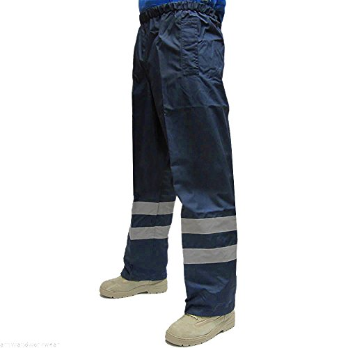 Forever Mens Hi Viz Waterproof Rain Over Trousers High Vis Visibility (Clothing Mens Clothing Trousers)
