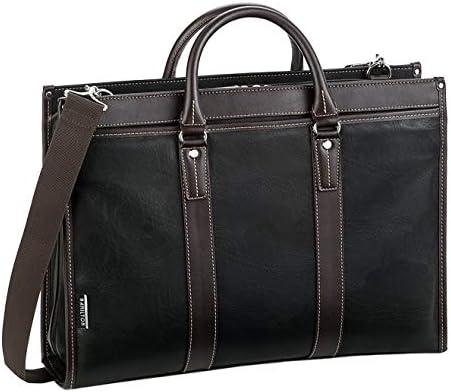 平野鞄 ブリーフケース ビジネスバッグ ショルダーバッグ ショルダーベルト 2way メンズ B4 A4 横幅42cm 黒 ブラック 通勤 ビジネス +オリジナル高級ムートングローブ