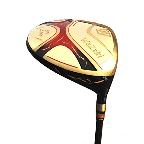 Japan Wazaki Cyclone Titanium 460cc Golf Club Gold Graphite Shaft Close Face Angle Driver(10.5 Degree, Right Handed, Regular Flex, 260 CPM)