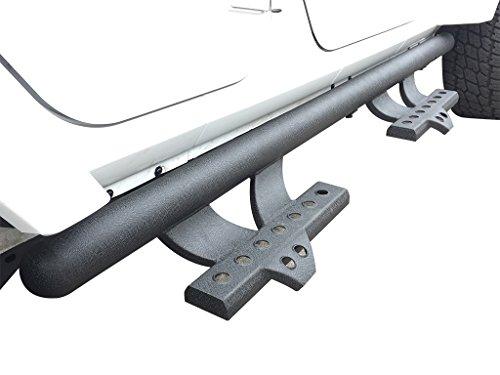 VANGUARD Off Road VGSSB-1311BK Multi-fit Step Nerf Bar Black 3 inch Round V Signature Side Steps