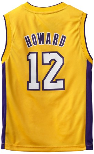 - NBA Los Angeles Lakers Dwight Howard Youth 8-20 Replica Home Jersey, Small, Gold