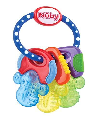 Nuby – Baby Speelgoed Koelbijtsleutels met 3 sleutels, voor 3 keer langer actieve koude – voor baby's vanaf 3 maanden…