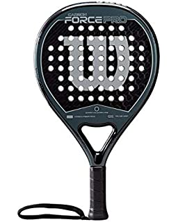 WILSON Carbon Force Pro Paddle Racket, Adultos Unisex, Black/Grey, One Size