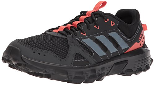 adidas Women's Rockadia w Trail Running Shoe, Carbon/Raw Steel/Trace Scarlet, 8.5 M US