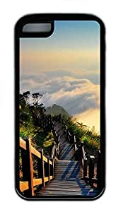 for iphone 5/5S Case Ladder Landscape TPU for iphone 5/5S Case Cover Black