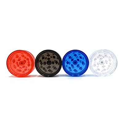 Herb Grinder 4 Pack Acrylic for Spices, Herbs, Tobacco - Magnetic Locking Durable Plastic SHREDDER420 from Pack-A-Bowl