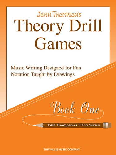 Theory Drill Games Set 1: Early Elementary Level (John Thompson's Piano Series) (Drill Book)