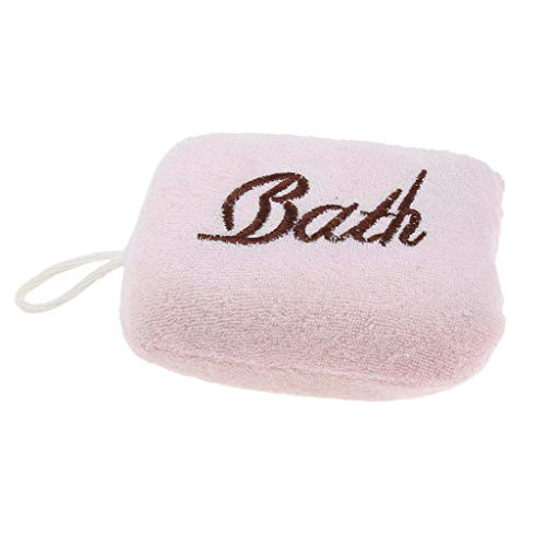 Body Scrubber Cleaning Sponge Exfoliating Spa Massage for Bath Shower (Color - Pink)]()