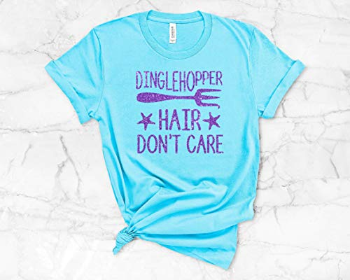 Dinglehopper Hair Don't Care! The Little Mermaid Shirt, Unisex Misses and Plus size tee or Tank Top -