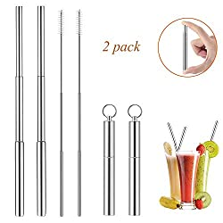 Satisfactied quality and no toxicity Stainless steel telescopic straws are not easy to rust for long-term use. Smooth edges will not hurt your mouth. And it is made of food-grade 304 stainless steel material, which is FDA approved. So, it is non-toxi...