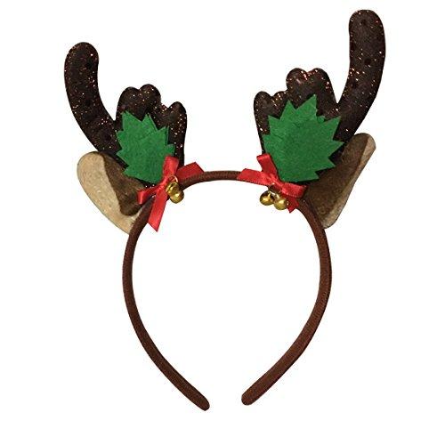 BESTOYARD Reindeer Antler Headband Christmas Headband Reindeer Antler Hair Hoop Headpiece for Christmas Costume Party - L Costume Party