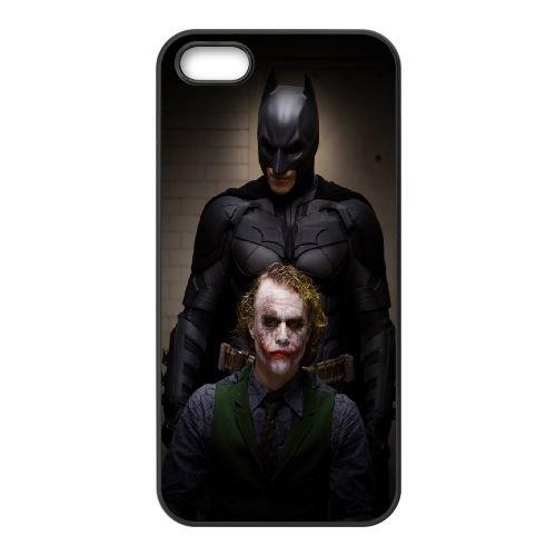 Batman And Joker coque iPhone 5 5S cellulaire cas coque de téléphone cas téléphone cellulaire noir couvercle EOKXLLNCD22014