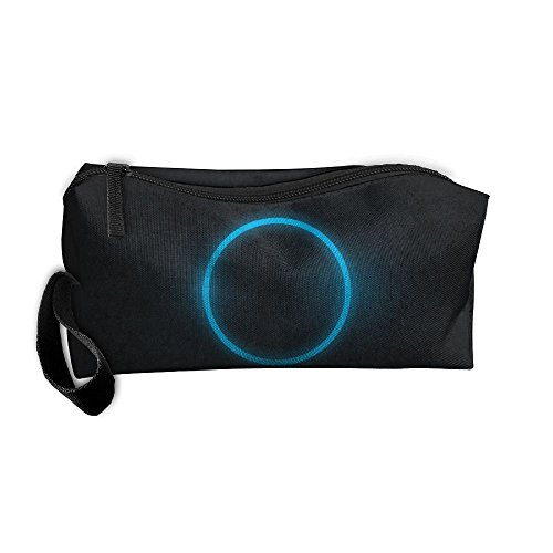 Storage Bag Appropriate Capacity Portable Makeup Cosmetic Bags Organization Pouch With Handle Blue Circles