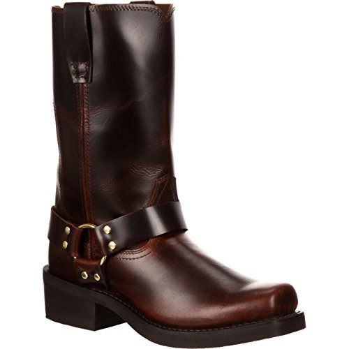 Brown Frontier Leather Harness - Durango Men's 11 Inch Harness boots width - D,size - 15 ,color - Frontier Brown