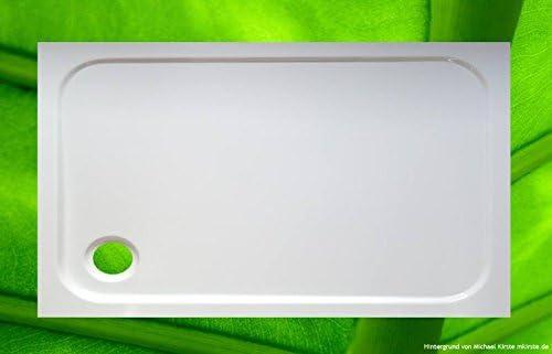 Ducha Bañera 120 x 70 cm Plato de ducha para cabina de ducha ...