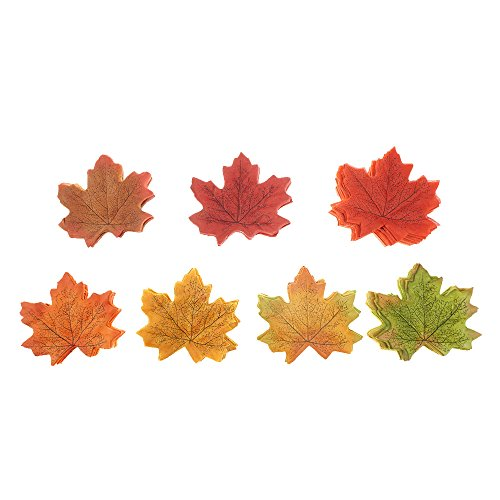 - Bilipala Artificial Fall Leaves Decorations, Autumn Leaves, Pack of 350, Assorted Colors