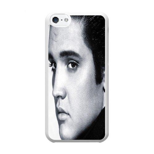 Coque,Coque iphone 5C Case Coque, Elvis Presley Cover For Coque iphone 5C Cell Phone Case Cover blanc